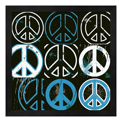 Metaverse Art Peace Mantra Framed Wall Art