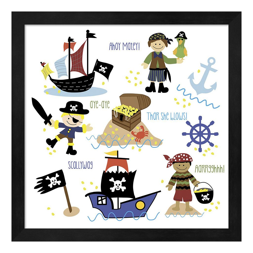 Metaverse Art Pirates & Ships Framed Wall Art
