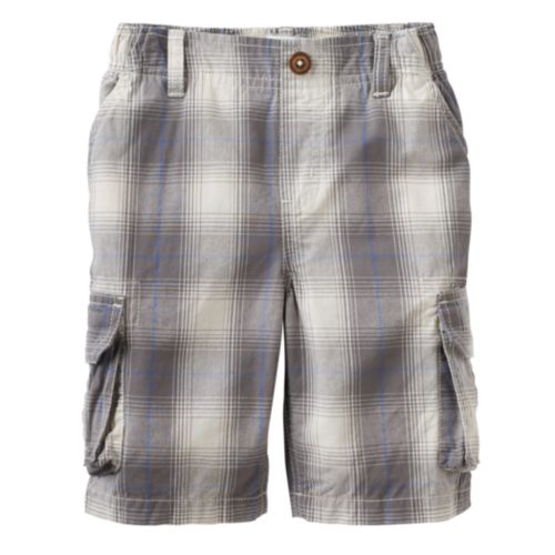 Boys 4-7x SONOMA Goods for Life™ Plaid Cargo Shorts
