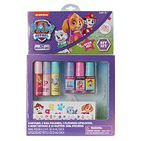 Paw Patrol Nail Polish, Lip Gloss, Temporary Tattoos & Nail Stickers BFF Beauty Set