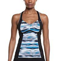 Women's Nike Gleam Ikat Racerback Tankini Top
