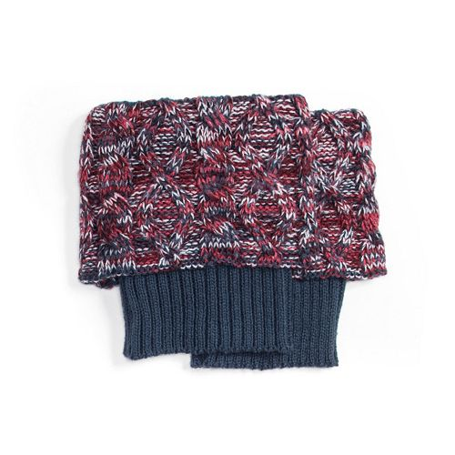 Womens Muk Luks Marled Cable Knit Boot Toppers