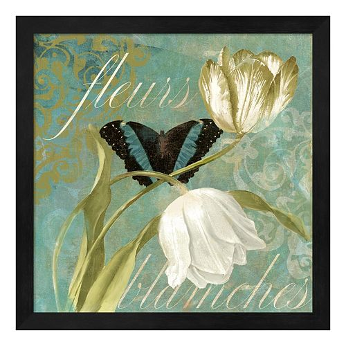 Metaverse Art White Tulips II Framed Wall Art