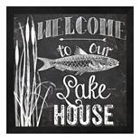 "Metaverse Art ""Welcome To Our Lake House"" Framed Wall Art"