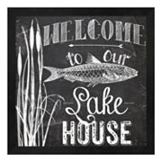 Metaverse Art 'Welcome To Our Lake House' Framed Wall Art