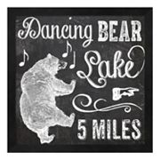 Metaverse Art 'Dancing Bear Lake' Framed Wall Art