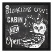 "Metaverse Art ""The Singing Owl Cabin"" Framed Wall Art"