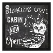 Metaverse Art 'The Singing Owl Cabin' Framed Wall Art