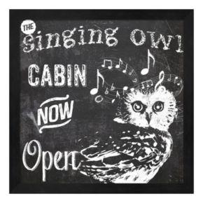 "Metaverse Art ""The Singing Owl Cabin"" Framed Wall Art"