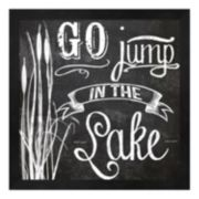 "Metaverse Art ""Go Jump in the Lake"" Framed Wall Art"