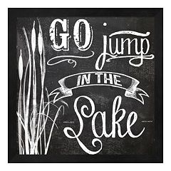 Metaverse Art 'Go Jump in the Lake' Framed Wall Art