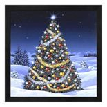 Metaverse Art Christmas Tree Framed Wall Art