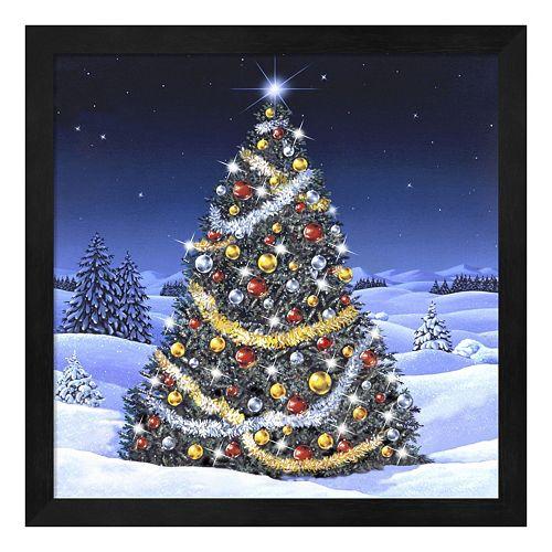 Metaverse Art Christmas Tree Framed Wall Art