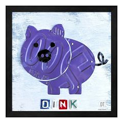 Metaverse Art Oink the Pig Framed Wall Art