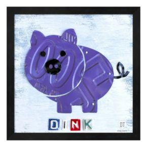 Metaverse Art Oink the Pig Framed Wall Art