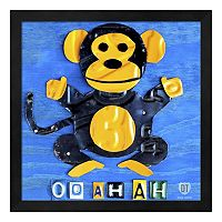 Metaverse Art Monkey Framed Wall Art