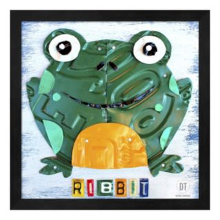 Metaverse Art Ribbit the Frog Framed Wall Art