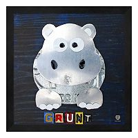 Metaverse Art Grunt the Hippo Framed Wall Art