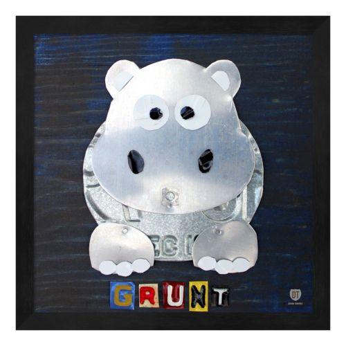Metaverse Art Grunt the Hippo Framed Wall Art