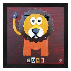 Metaverse Art Roar the Lion Framed Wall Art