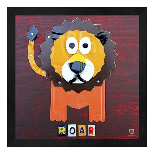 Metaverse Art Roar the Lion Framed Wall Art