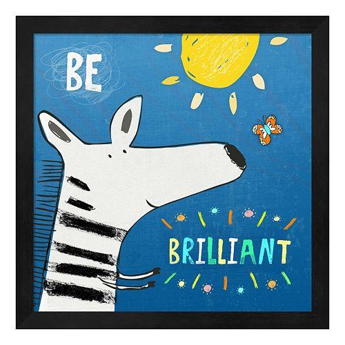 "Metaverse Art ""Be Brilliant"" Framed Wall Art"