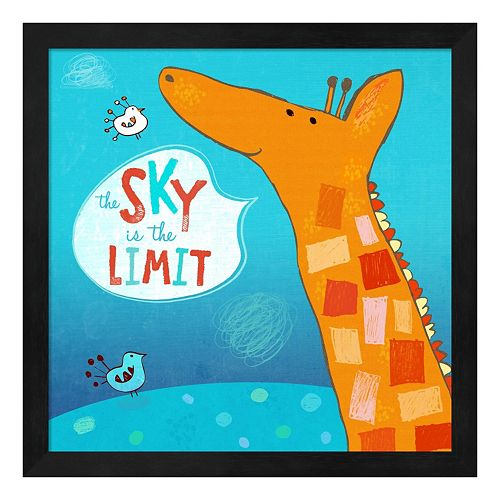 "Metaverse Art ""The Sky Is The Limit"" Framed Wall Art"