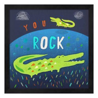 """Metaverse Art """"You Rock"""" Framed Wall Art"""