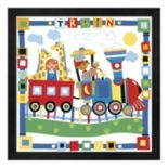 "Metaverse Art ""Train"" Framed Wall Art"