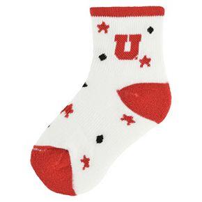 Baby Utah Utes Socks