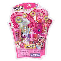 Shopkins Lip Crayon, Lip Gloss, Nail Polish, Balm, Hair Clips, Temporary Tattoos & Body Gems Beauty Set
