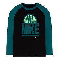 Boys 4-7 Nike World of B-Ball Raglan Long Sleeve Tee