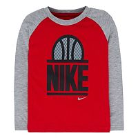 Boys 4-7 Nike World of B-Ball Raglan Long Sleeve Tee