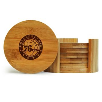 Philadelphia 76ers 6-Piece Bamboo Coaster Set