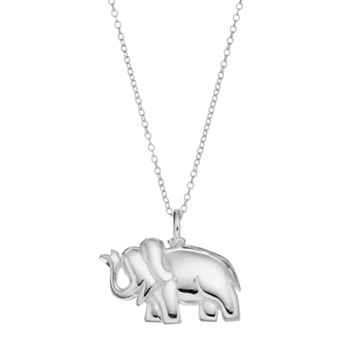 PRIMROSE Sterling Silver Elephant Pendant Necklace