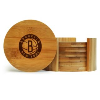 Brooklyn Nets 6-Piece Bamboo Coaster Set