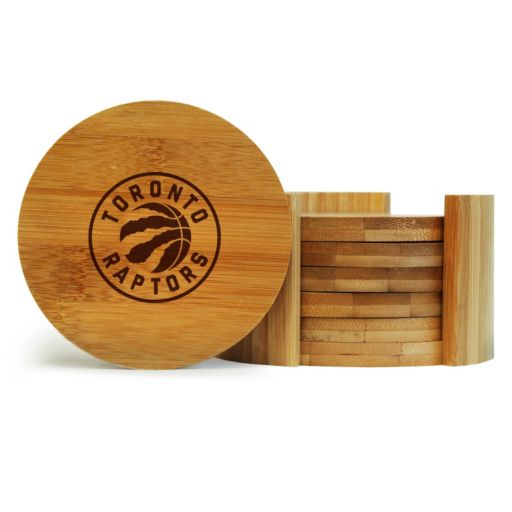 Toronto Raptors 6-Piece Bamboo Coaster Set