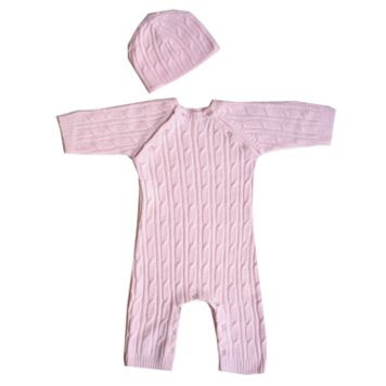 Sleeping Partners 2-pc. Faux-Pashmina Cable-Knit Set - Pink