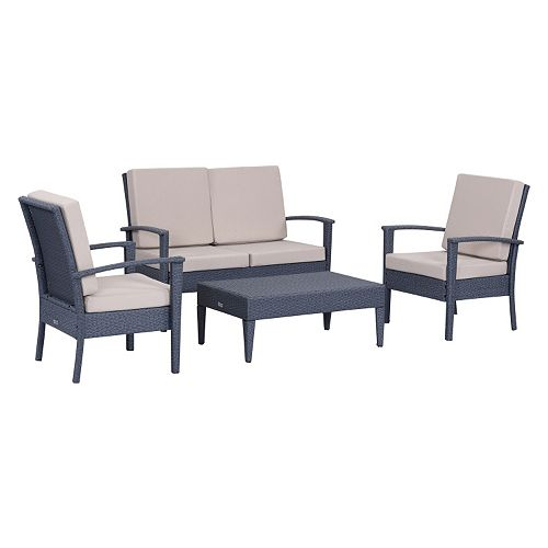 Safavieh Myers Outdoor Loveseat 4-piece Set