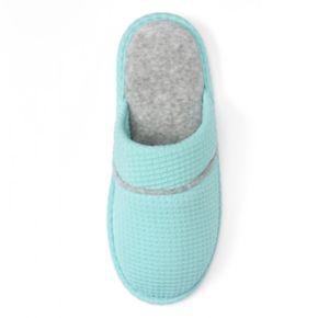 Dearfoams Women's Waffle Textured Knit Scuff Slippers