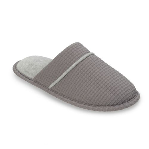 Dearfoams Women's Waffle ... Textured Knit Scuff Slippers