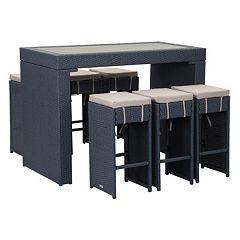 Safavieh Sanders Outdoor Bar Table 7-piece Set