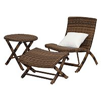 Safavieh Perkins Outdoor Lounge Chair 3-piece Set