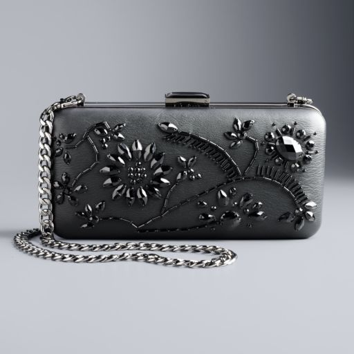 Simply Vera Vera Wang Sequined Floral Minaudiere Clutch