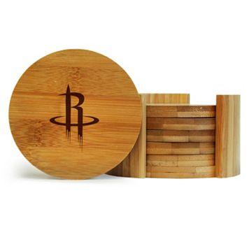 Houston Rockets 6-Piece Bamboo Coaster Set
