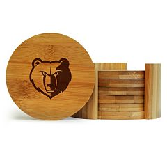 Memphis Grizzlies 6 pc Bamboo Coaster Set