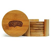 San Antonio Spurs 6-Piece Bamboo Coaster Set