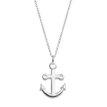 Primrose sterling silver anchor pendant necklace aloadofball Gallery