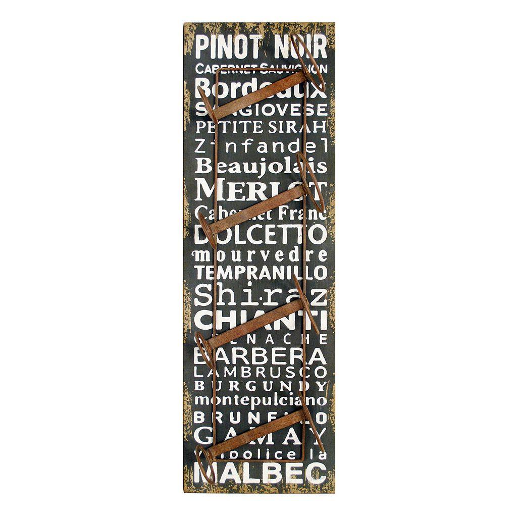 New View Wine Words Wine Rack Wall Decor