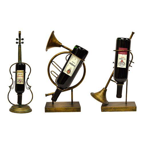 New View Musical Wine Bottle Holder 3-piece Set